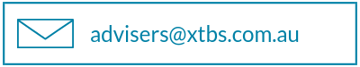 Email us @ Advisers@xtbs.com.au button
