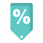 Rates down icon